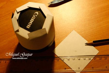 Truques e dicas - Cilindro de cartão - Pontas dobradas e quadrado de centro