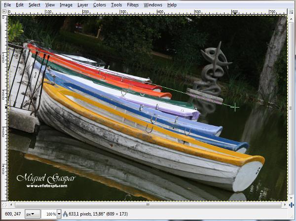 Gimp - calcular o ângulo da fotografia