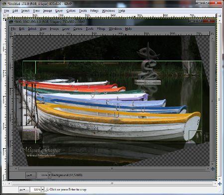 Gimp - Corte da imagem