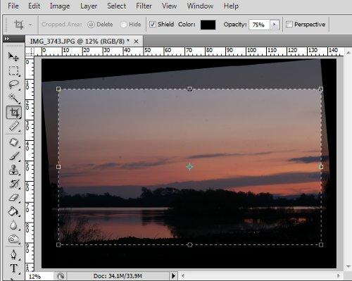 Photoshop - Escolha da area a cortar