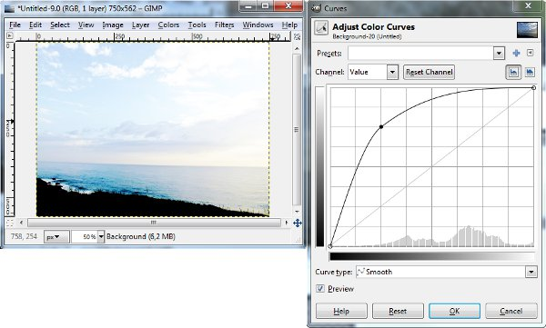 Imagem clara - Curves