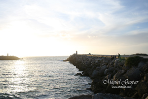 Nazaré - Pôr do sol - Fotografia clara