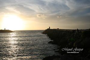 Nazaré - Pôr do sol - Fotografia escura