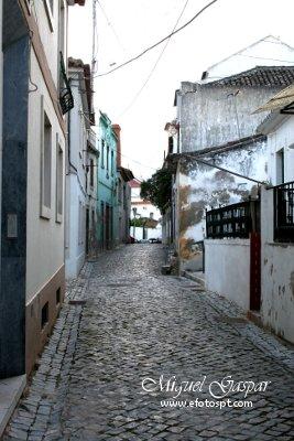 Ruas de Azambuja - edição a preto e branco