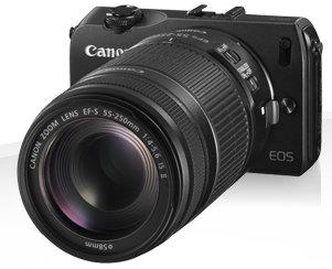 Canon EOS M com lente 55-250mm
