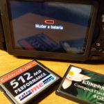 Pouca Bateria e Cartão de Memória